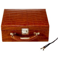 20th Century Crocodile Jewelry Travel Case, circa 1930