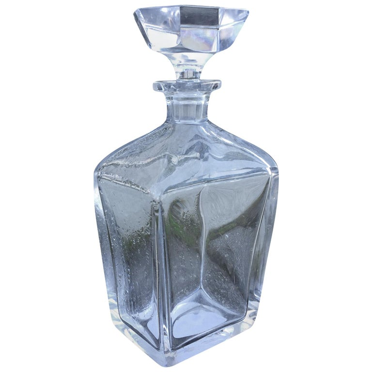 20th Century Crystal Decanter For Sale