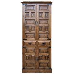 20th Century Cupboard or Cabinet, Walnut, Castillian Influence, Spain, Restored