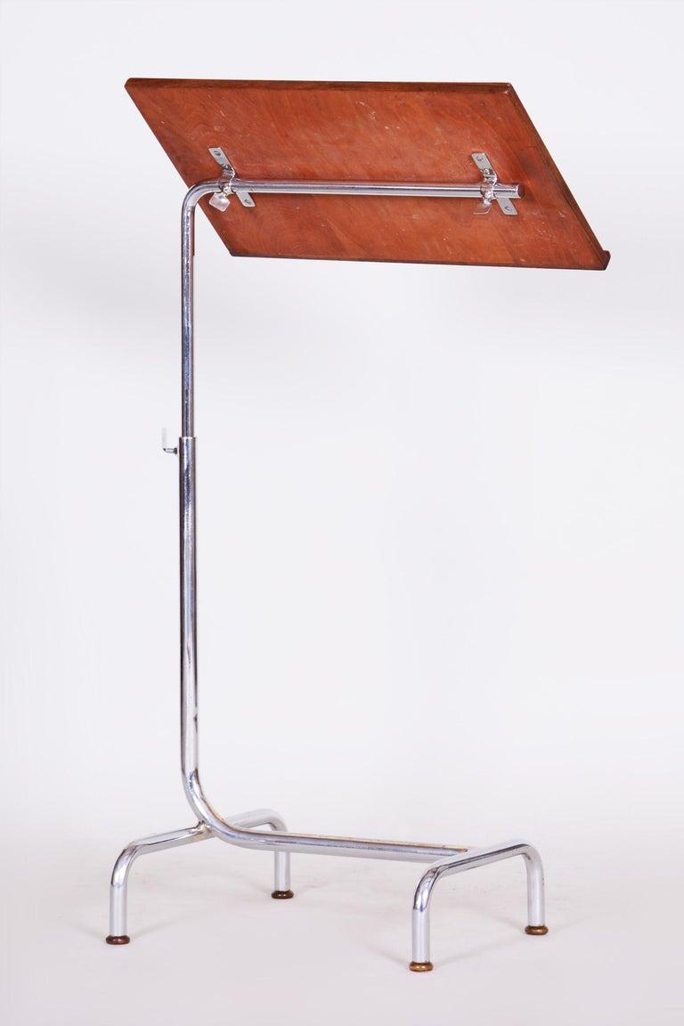 20th Century Czech Adjustable Bauhaus Table, Chrome, Mücke, Melder, 1930s For Sale 2