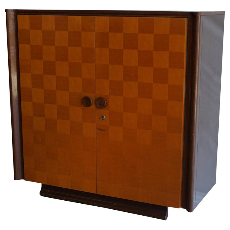 20th Century Czech Art Deco Mahogany Sideboard For Sale