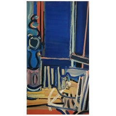 20th Century Dark Blue Abstract Still Life By Daniel Clesse