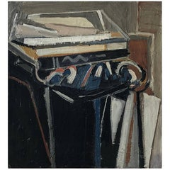 20th Century Blue Abstract Still Life By Daniel Clesse