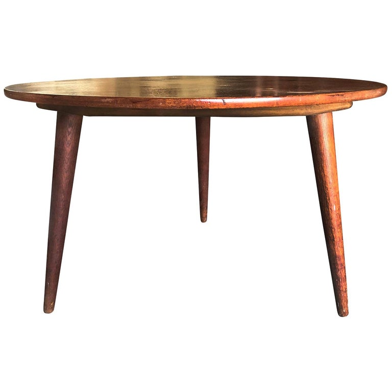 20th Century Danish Andreas Tuck Teakwood Coffee Table by Hans J. Wegner For Sale