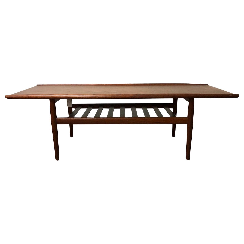 20th Century Danish Andreas Tuck Teakwood Coffee Table by Hans J. Wegner