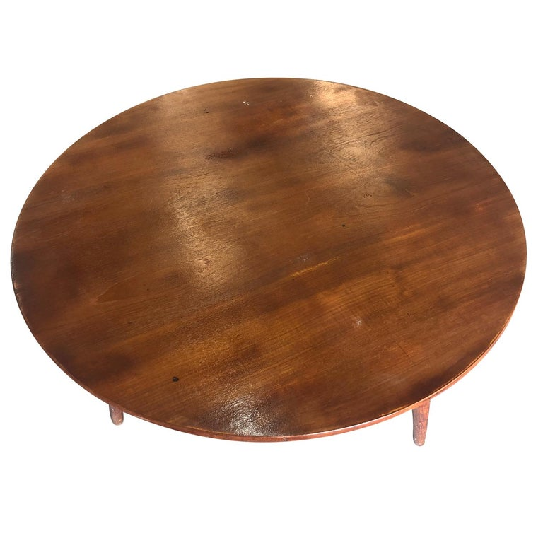 20th Century Danish Andreas Tuck Teakwood Coffee Table by Hans J. Wegner In Good Condition For Sale In West Palm Beach, FL