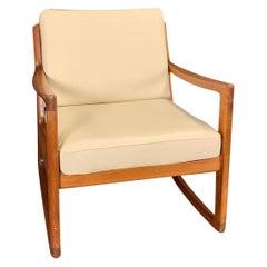 20th Century Danish France & Son Teakwood Rocking Chair by Ole Wanscher