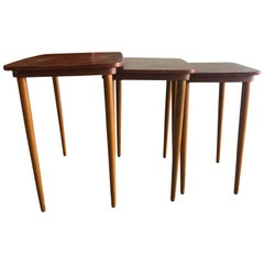 20th Century Danish Set of Three Scandinavian Nesting Tables