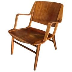 20th Century Danish Side Armchair by Peter Hvidt & Orla Mølgaard Nielsen