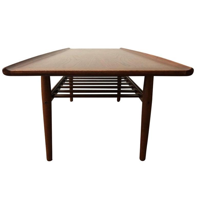 20th Century Danish Andreas Tuck Teakwood Coffee Table by Hans J. Wegner For Sale 3