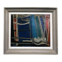 20th Century Dark Blue Abstract Painting by Daniel Clesse