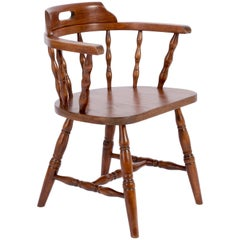 20th Century Dark Brown Beechwood Chair, 1960s