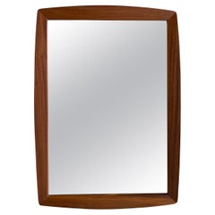 20th Century Dark-Brown Danish Art Deco Walnut Wall Mirror
