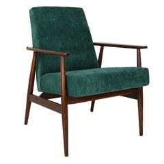 20th Century Dark Green Dante Armchair, H. Lis, 1960s