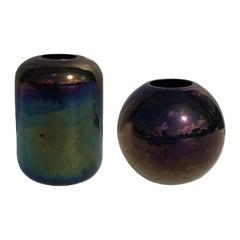 20th Century Italian Pair of Two Murano Glass Vases