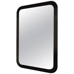 20th Century Decorative Contemporary Beveled Edge Black Glass Mirror