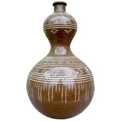 20th Century Decorative Ethnic Vessel Ceramic Pottery Jar