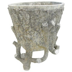 20th Century Decorative French Cement Plant Pot