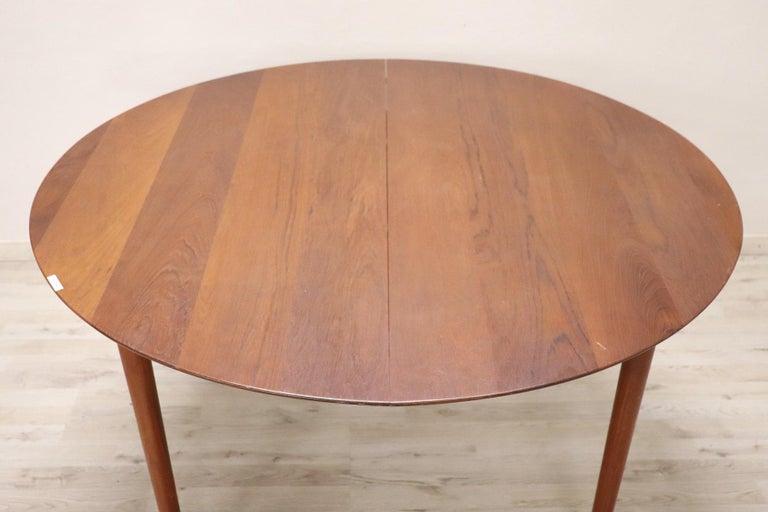Danish 20th Century Design Dining Table by Peter Hvidt for Søborg in Teak, 1950s For Sale