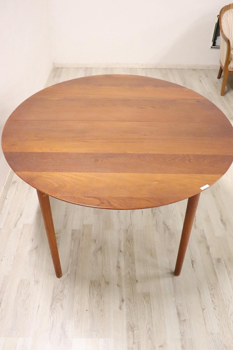20th Century Design Dining Table by Peter Hvidt for Søborg in Teak, 1950s In Good Condition For Sale In Bosco Marengo, IT