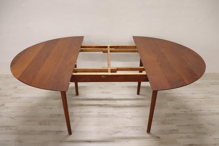 Mid-20th Century 20th Century Design Dining Table by Peter Hvidt for Søborg in Teak, 1950s For Sale
