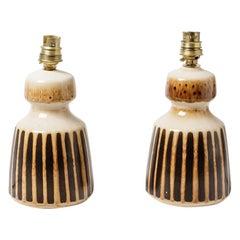 20th Century Design Pair of Ceramic Table Lamps by Susex England Decorative Art