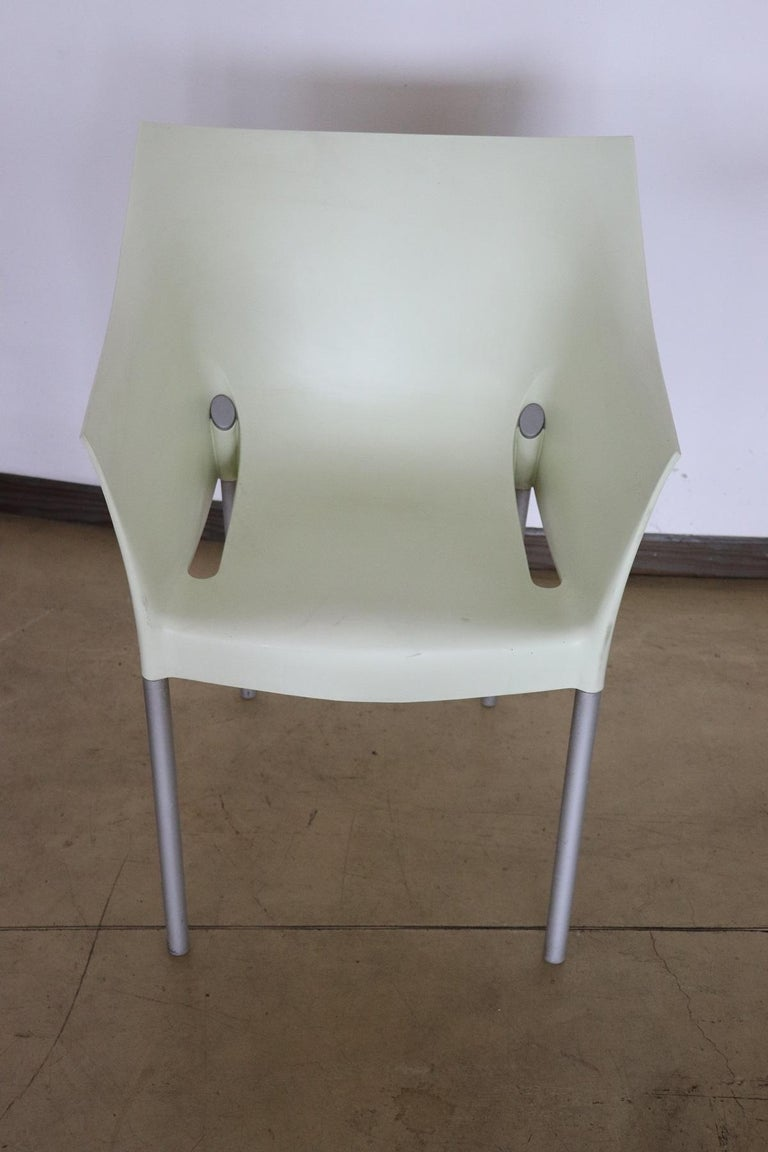 Aluminum 20th Century Design Table and Chairs by Philippe Starck for Kartell, 1990s For Sale