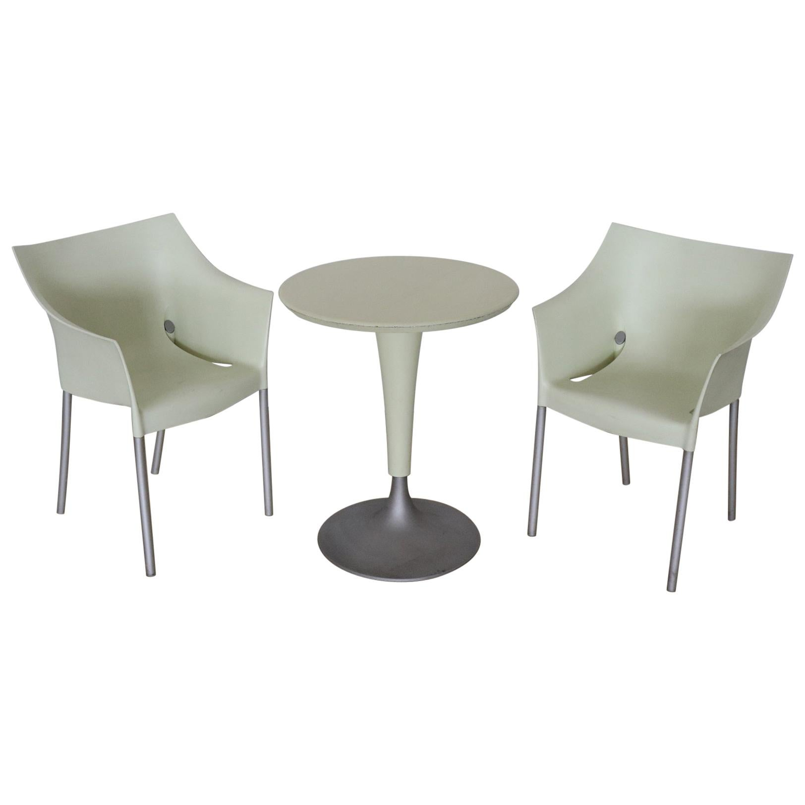 20th Century Design Table and Chairs by Philippe Starck for Kartell, 1990s