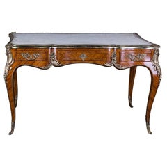 20th Century Desk Bureau Plat in Louis XV Style Excellent Quality