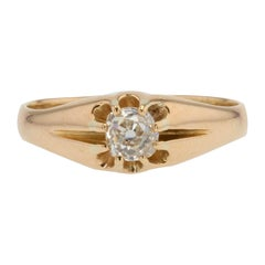 20th Century Diamond 18 Karat Yellow Gold Antique Ring