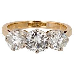 20th Century Diamonds 18 Karat Yellow Gold Garter Ring