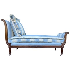 20th Century Directoire Carved Recamier