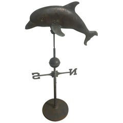 20th Century, Dolphin Zinc Weathervane, 1940s