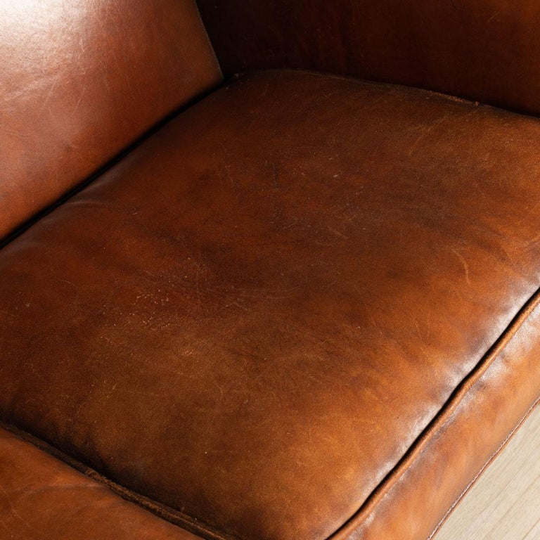 20th Century Dutch Two-Seat Leather Sofa, Holland 8