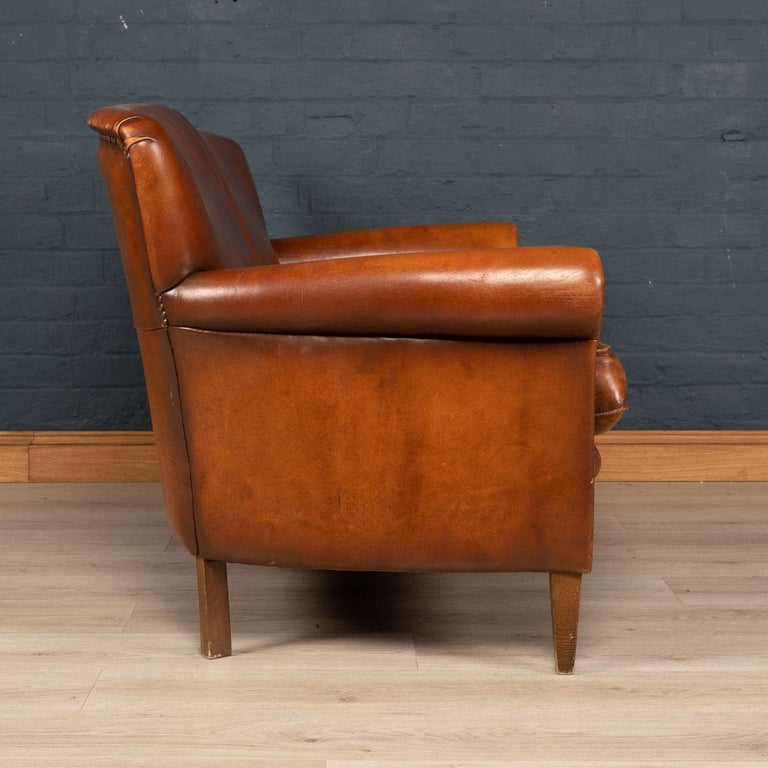 20th Century Dutch Two-Seat Leather Sofa, Holland 1
