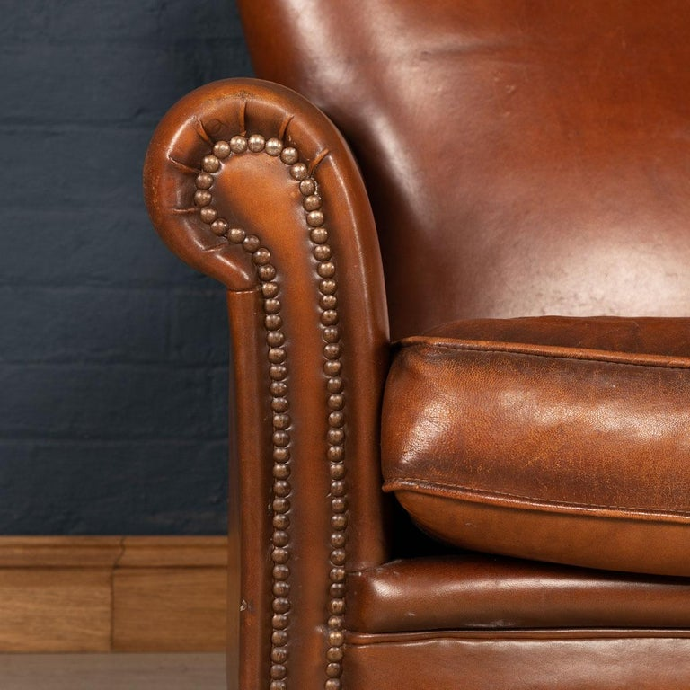 20th Century Dutch Two-Seat Leather Sofa, Holland 3