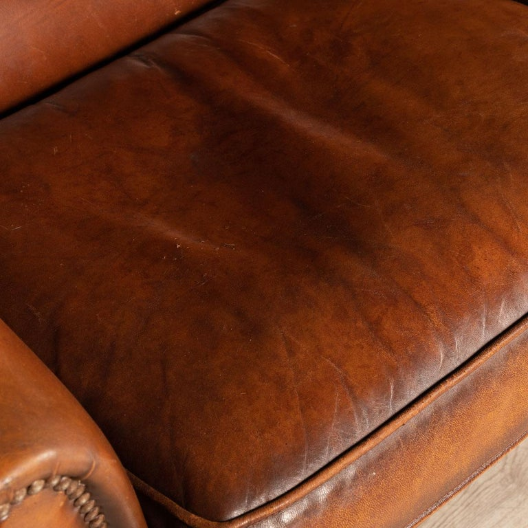 20th Century Dutch Two-Seat Leather Sofa, Holland 5