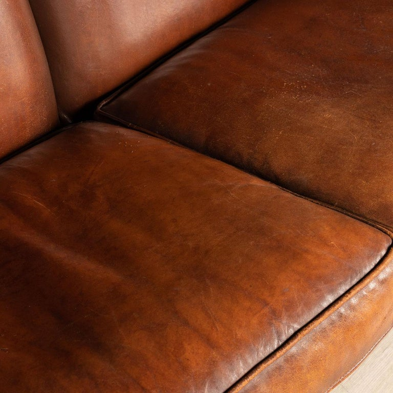 20th Century Dutch Two-Seat Leather Sofa, Holland 6