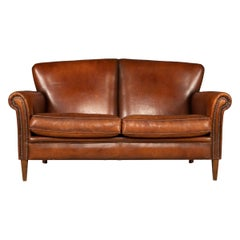 20th Century Dutch Two-Seat Leather Sofa, Holland