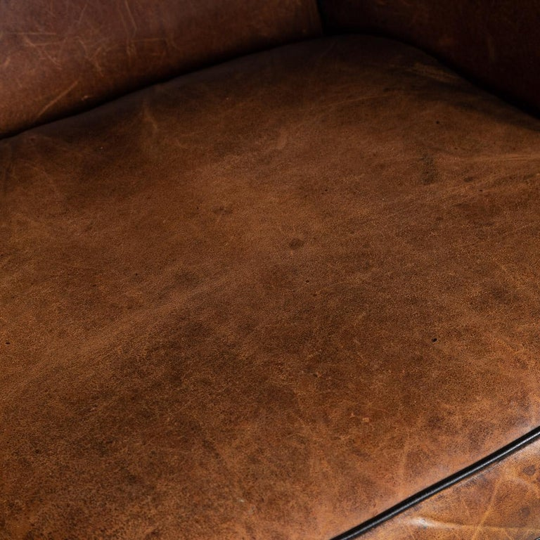 20th Century Dutch Two-Seat Sheepskin Leather Sofa, circa 1970 For Sale 10
