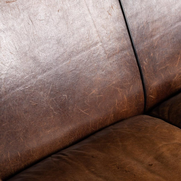 20th Century Dutch Two-Seat Sheepskin Leather Sofa, circa 1970 For Sale 14