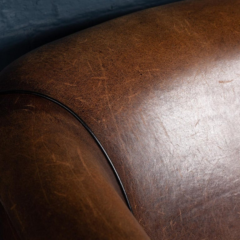 20th Century Dutch Two-Seat Sheepskin Leather Sofa, circa 1970 For Sale 16