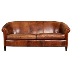 20th Century Dutch Two / Three-Seat Sheepskin Leather Sofa, circa 1960