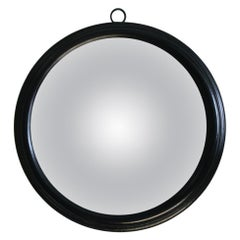 20th Century Ebonized Circular Concave Distortion Mirror
