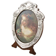 20th Century Edwardian English Sterling Silver Photograph Frame