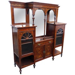 20th Century Edwardian Inlaid Display Cabinet