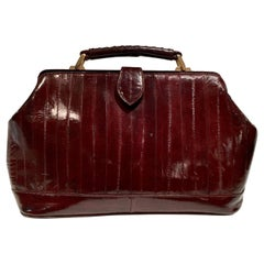 "20th Century Eel Skin Oxblood ""Doctor's"" Hand Bag"