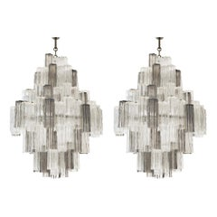 20th Century Eight-Tiered Murano Chandeliers by Paolo Venini & Toni Zucceri
