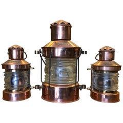 20th Century Electrified Copper Lanterns Ankerlicht, Netherlands