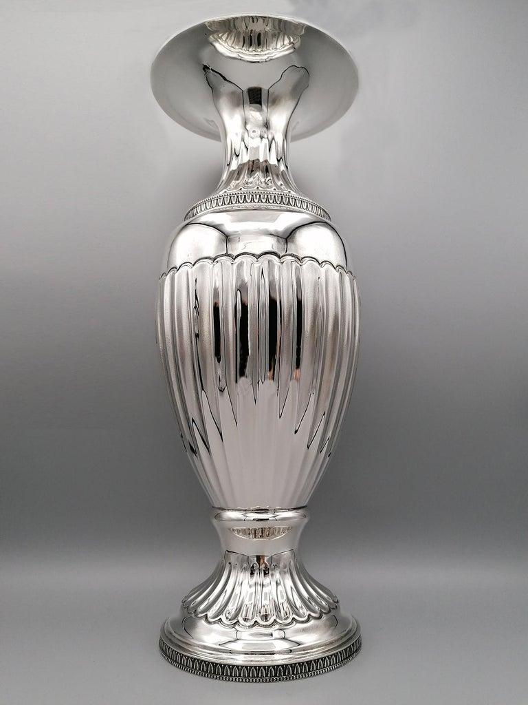 20th Century Empire Revival Italian Silver Vase For Sale 1